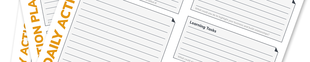 Start getting sh*t done with action plan worksheets